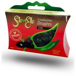 Stevielle Drajeuri Merișor în ciocolată neagră