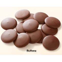Drajeurile sunt învelite cu această Ciocolată cu lapte îndulcită cu stevia Stevielle Buttons