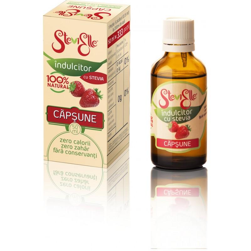 Îndulcitor din Stevia cu aromă de Căpșunică